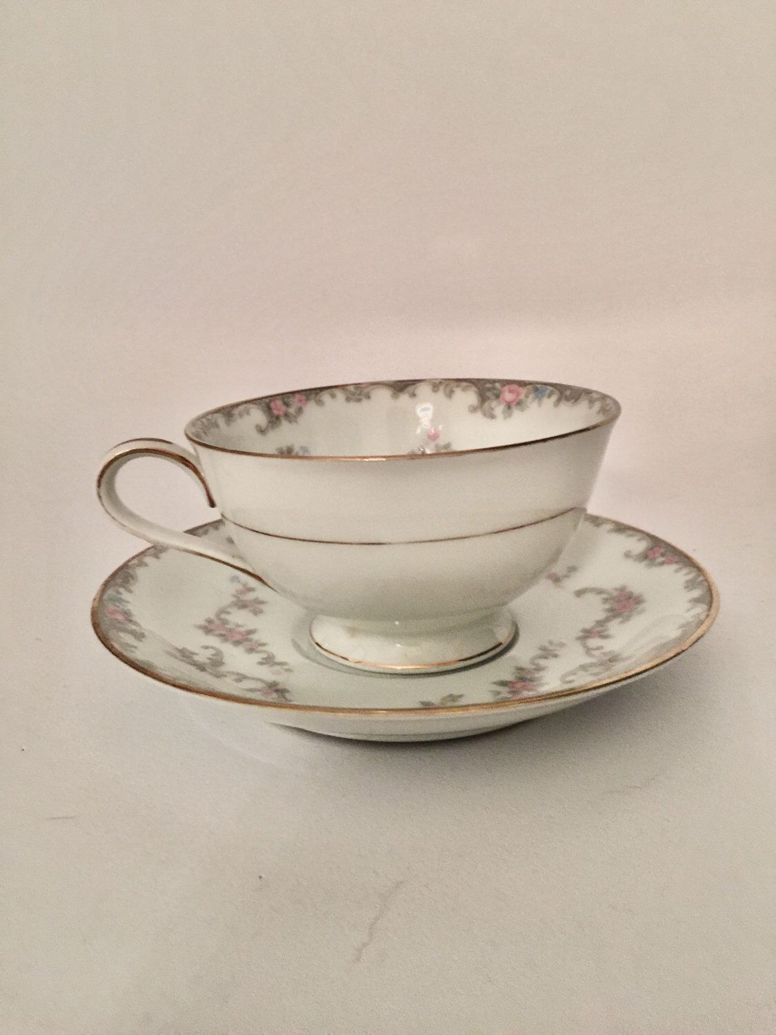 A personal favorite from my Etsy shop https://www.etsy.com/listing/499678416/vintage-noritake-winsor-flower-gold-trim