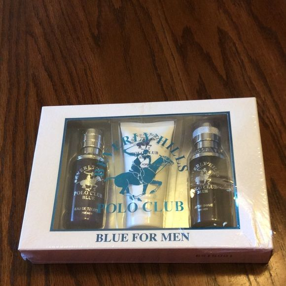 Polo blue for men Polo blue for men. Toilette 1 fl oz , after shave 1.7 oz and body wash 1.5 oz. new Polo Other