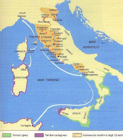 Cartina Dell Italia Al Tempo Degli Etruschi.Gli Etruschi Parte Seconda Mappa Dell Italia Storia Antica Storia