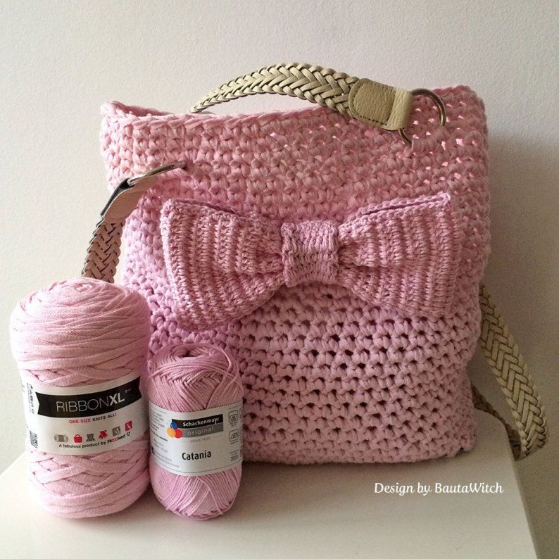 DIY - Crochet bag for spring with bow