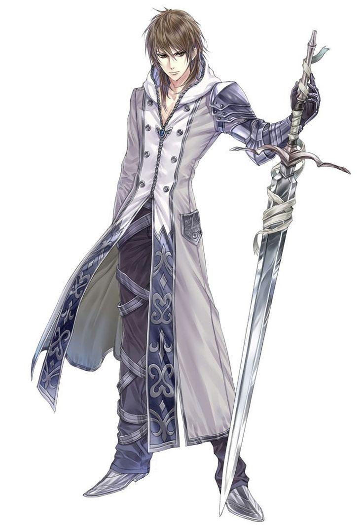 Anime Characters Using Sword : Image anime brown hair character fantasy greatsword