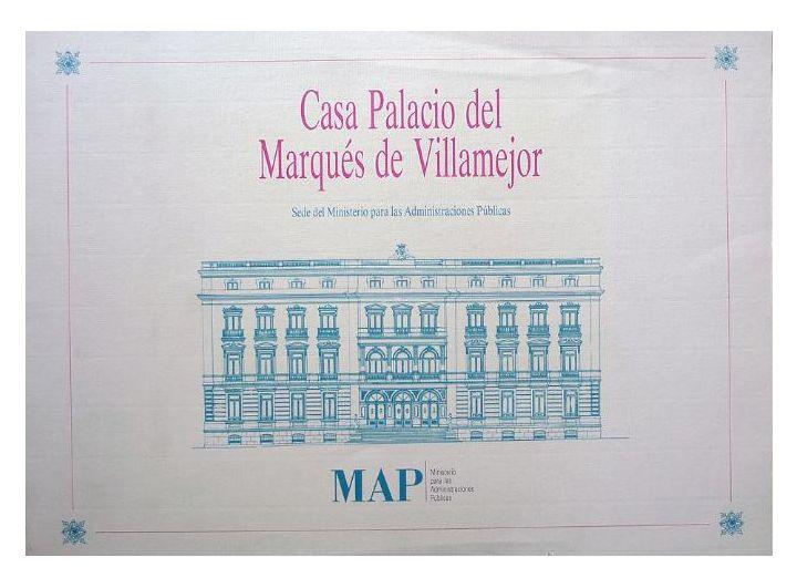 Casa Palacio del Marqués de Villamejor : Sede del Ministerio para las Administraciones Públicas / [Autora,Pilar Rivas Quinzaños]. Signatura: 752.1 RIV  Na biblioteca:  http://kmelot.biblioteca.udc.es/record=b1537952~S1*gag