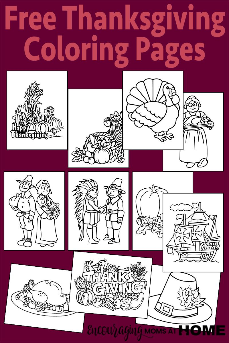 Free Thanksgiving Coloring Pages   Pinterest