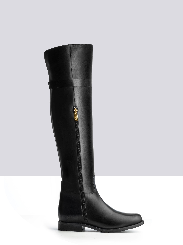 6fa7d13c43901 Phaedra Noir Cuir bottes-femme small 2   Mode   Pinterest   Ted ...