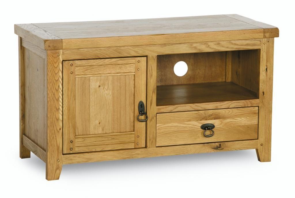 Branches Furniture Bristol Vienna Rustic Oak Tv Cabinet With Dawer Door And Open Shelf Meja