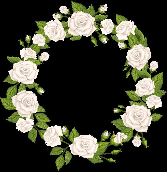 Roses Border White Png Clip Art Clip Art Wreath Clip Art Free Clip Art