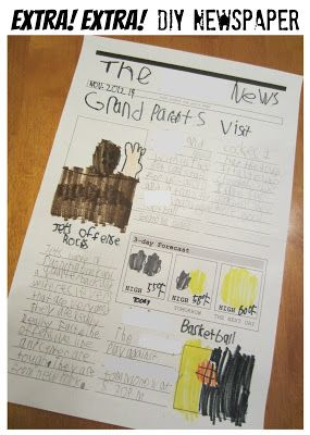 EXTRA! EXTRA! Free printable newspaper template to encourage kids ...