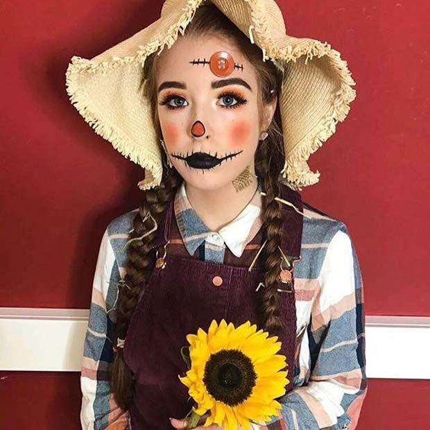 Easy DIY Halloween Scarecrow Costume Idea for Teens -   www - scarecrow halloween costume ideas