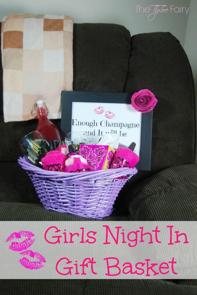 Girls Night In Gift Basket | Girls night, Fairy and Movie