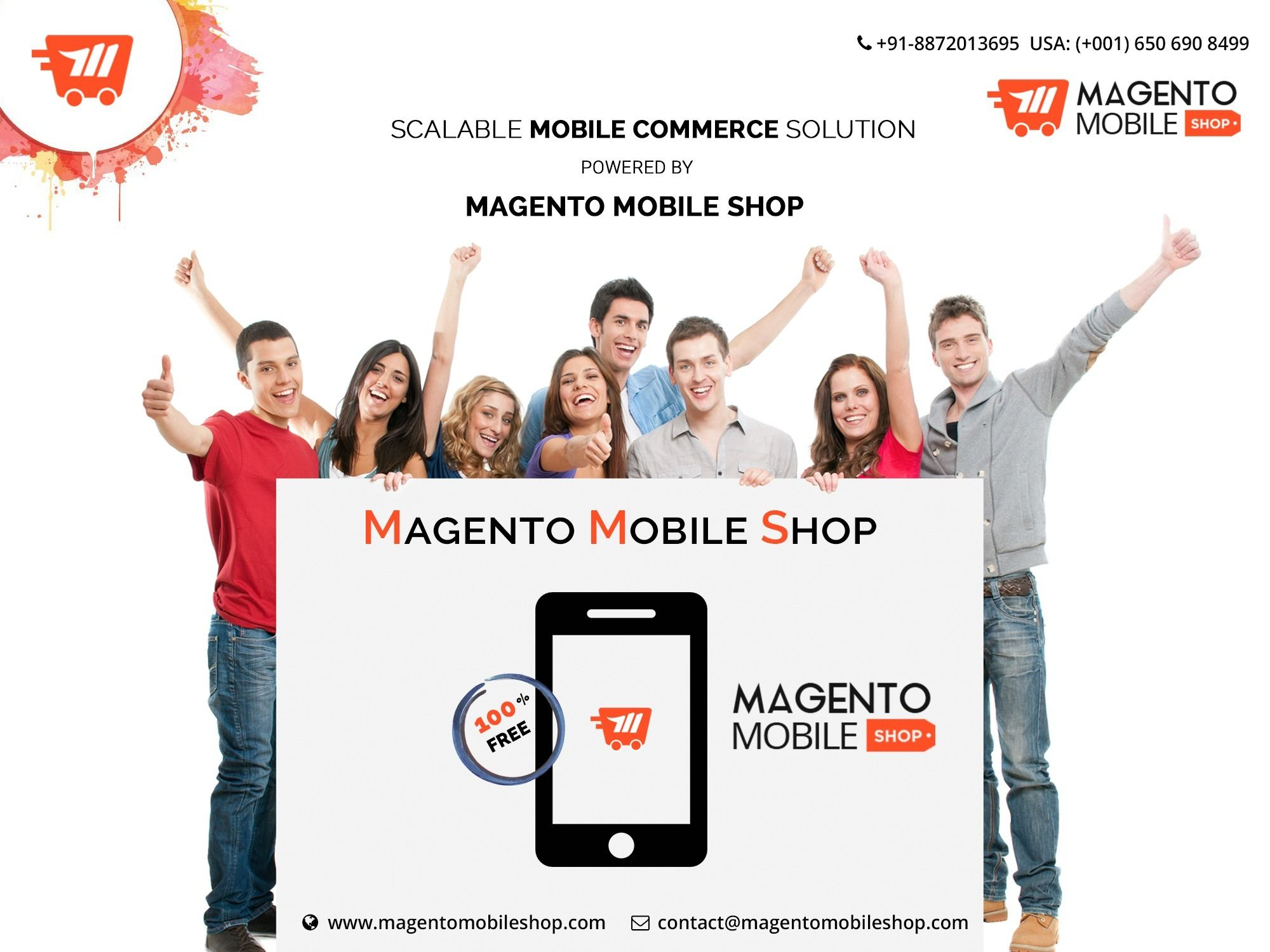 Magento Mobile App is a readymade product that caters to easy app development specifically for Magento based online stores. It aims at simplifying the app development process by skipping the lengthy phases such as conceptualization, designing and development with its ready-made framework.