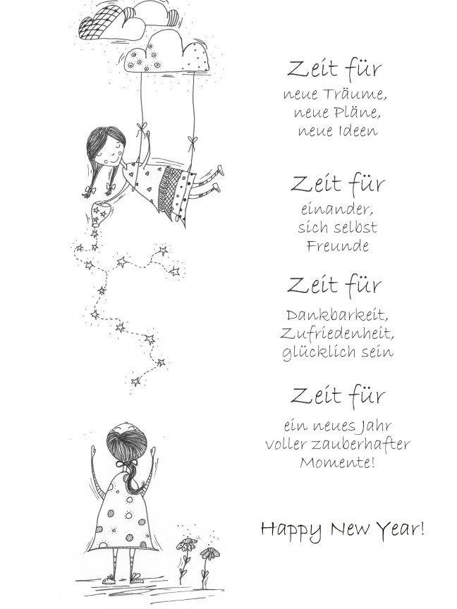 Zeitwunsche Fur Dich A4 Download Spruch Zeit Schenken Spruche Spruche Neues Jahr