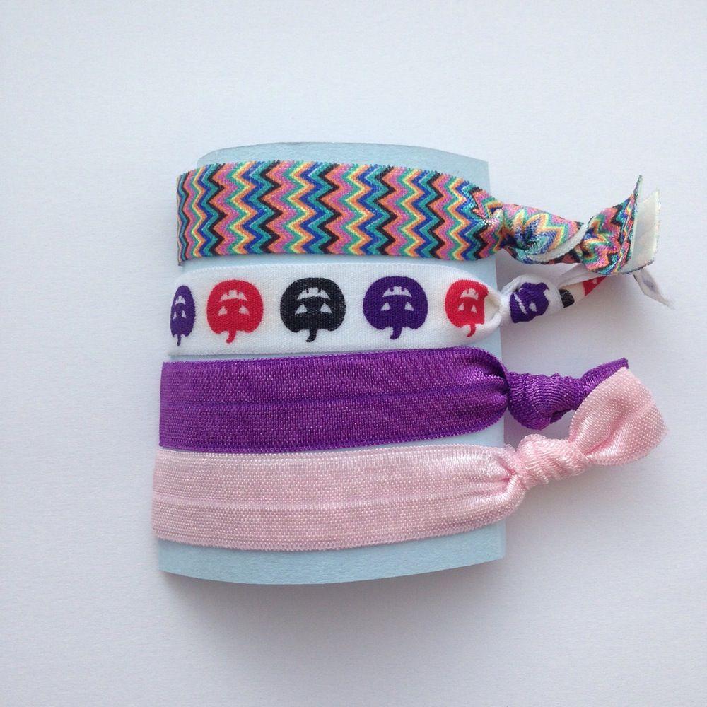 Image of pumpkinrainbow hair tie wrist bracelet hair tie