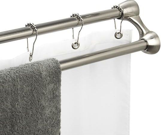Duo Shower Curtain Rod And Towel Rack From Crate And Barrel