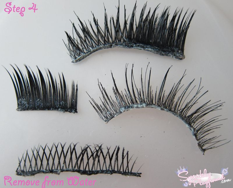 Tutorial How To Clean And Reuse False Eyelashes Sparkly