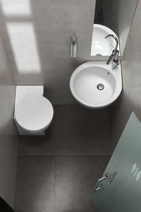 30 soluzioni per piccoli spazi 05. bagno super small per sfruttare ...