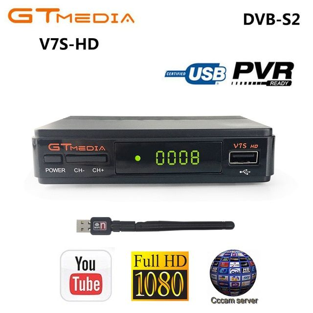 GTMEDIA V7S HD DVB-S2 Satellite Receiver 1080P HD Receptor Support