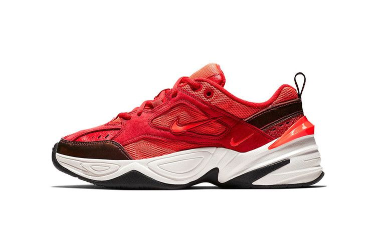 cf07fed6f288 Nike s M2K Tekno Welcomes Red Suede For Upcoming Drop