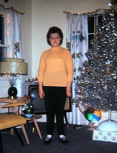 sapin de noel lumineux photo année 50 | Vintage christmas