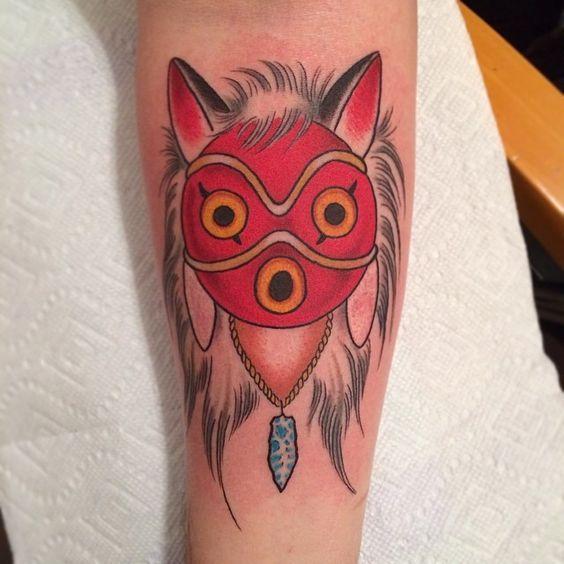 Princess Mononoke Mask Tattoo Tattoos Pinterest Mask Tattoo Tattoos Princess Mononoke Tattoo Anonymous Tattoo