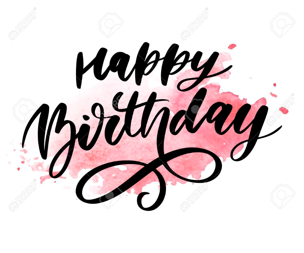 Happy Birthday Lettering Calligraphy Brush Gradient Sticker Kartu Ulang Tahun Kutipan Ulang Tahun Kartu
