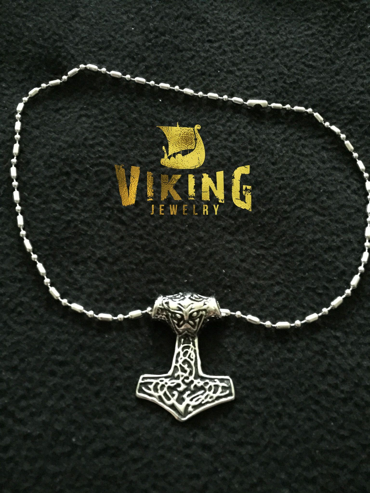 This Modern Viking Thor Hammer Necklace size is 34*24*9 mm   Comes