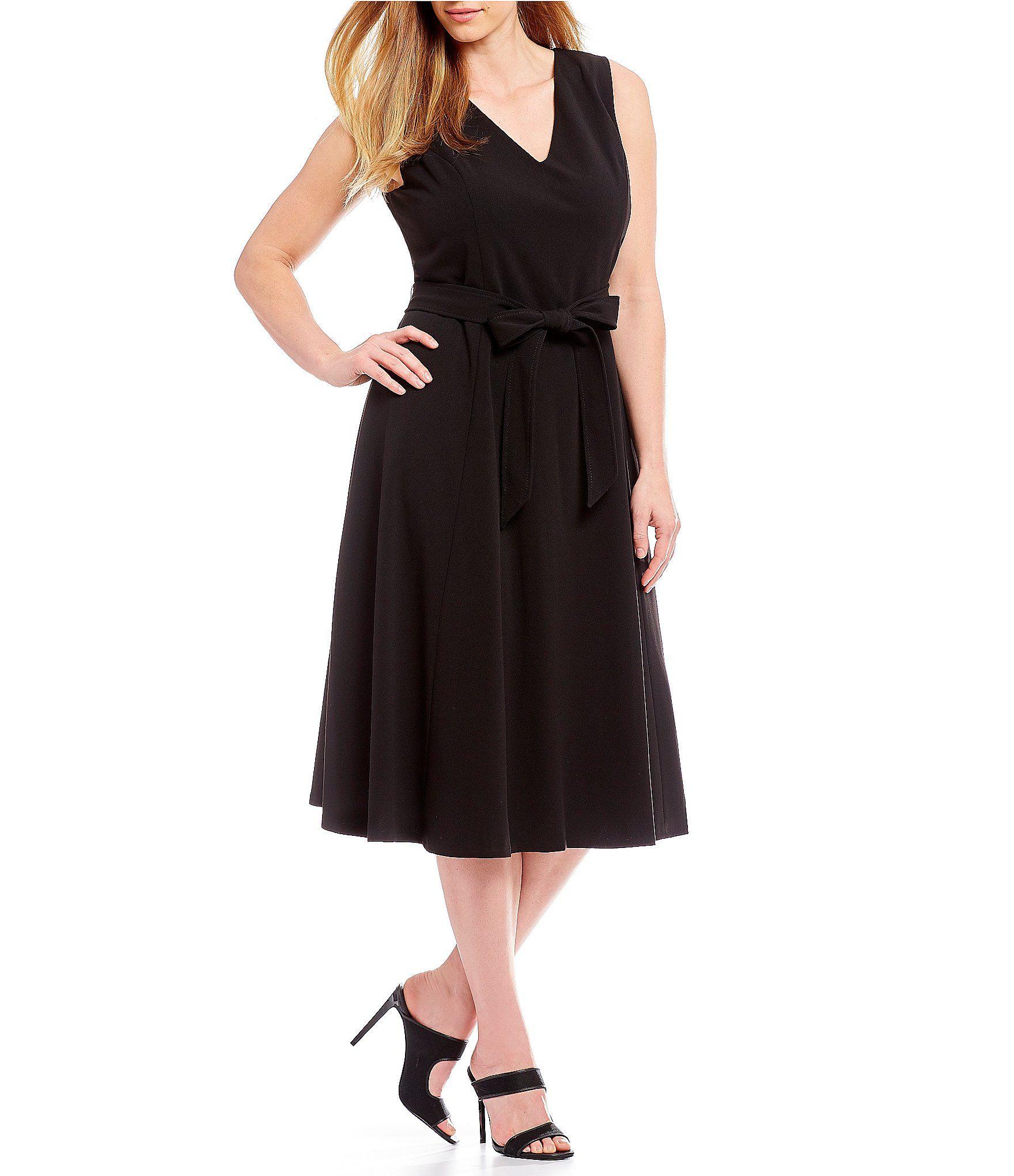 88de9a58e7 Calvin Klein Plus ALine Midi Dress  Dillards