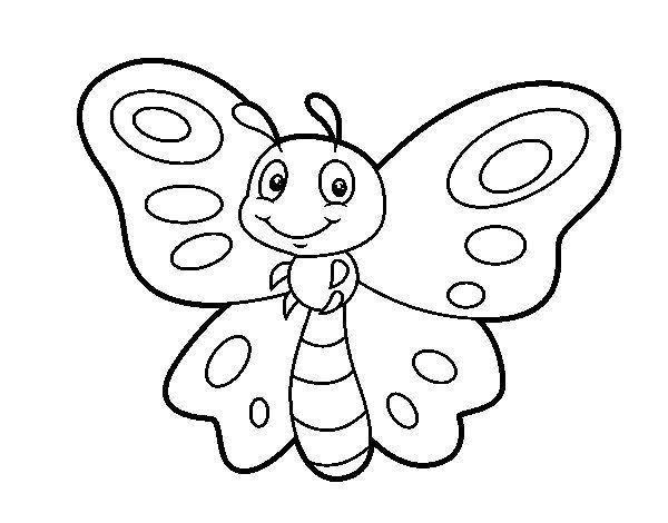 Dibujo De Mariposa Fantasia Para Colorear Mariposas Para