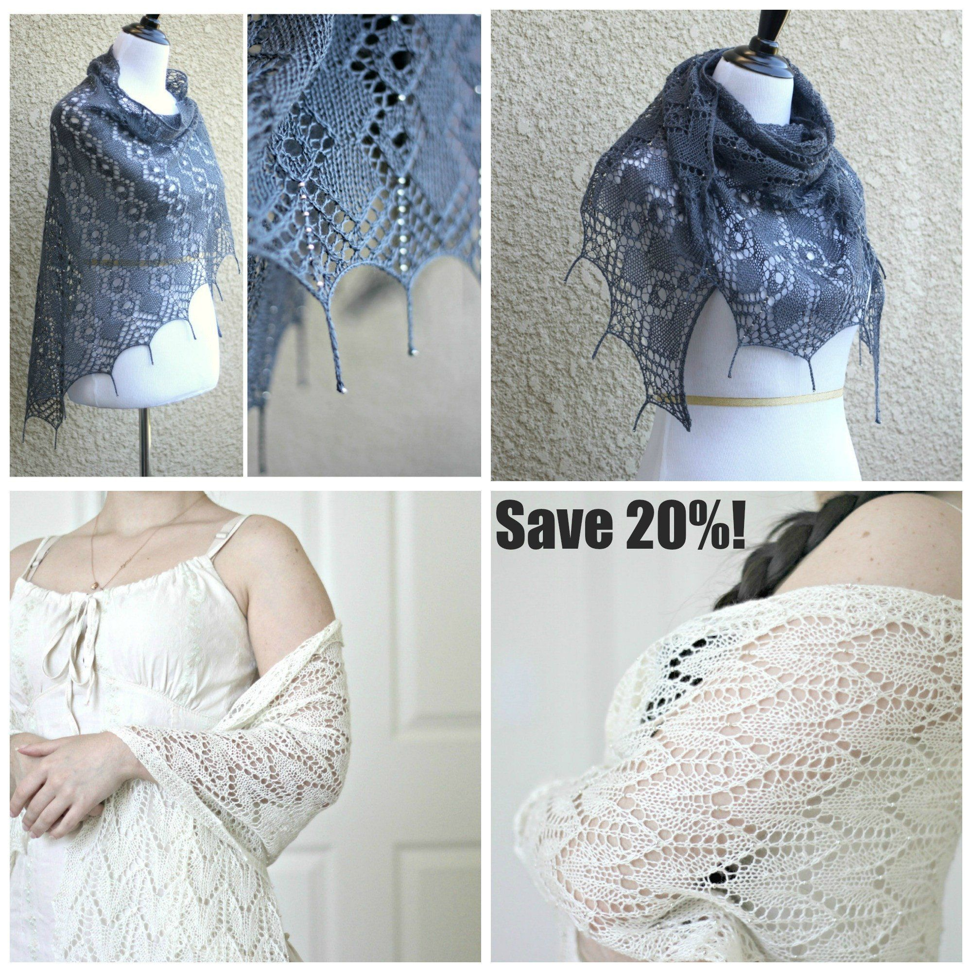 Knit Shawl Patternthis Bundle Consists Of Two Separate Patterns For