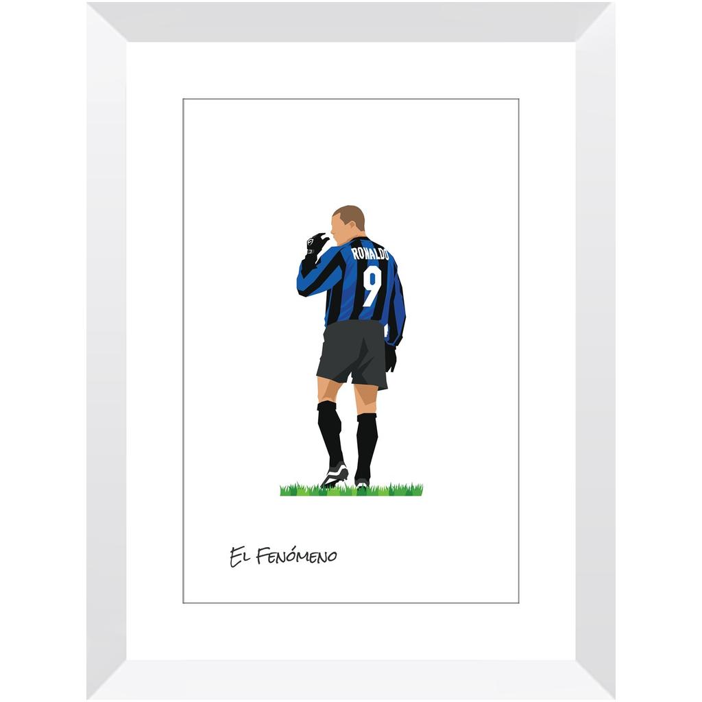 Ronaldo – Inter de Milán – 12×18″ / White