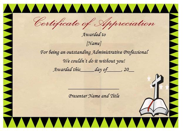 Pastor certificate of appreciation pastor appreciation pastor certificate of appreciation yelopaper Choice Image