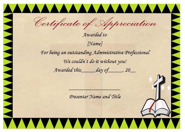 Pastor Certificate Of Appreciation Pastor Appreciation - free appreciation certificate templates