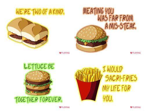 Cute Fast Food Quotes Fries Hamburger Funny Food Puns Food Humor Food Captions