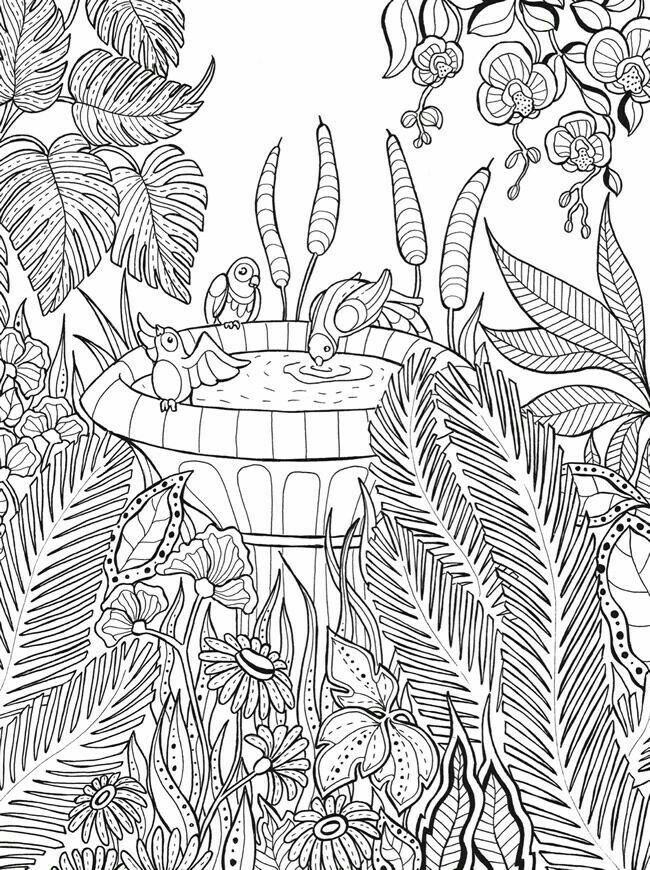 Dover Keep Calm Color Gardens Of Delight Coloring Page 5