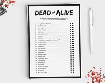halloween game dead or alive fun halloween party game for adults or teens