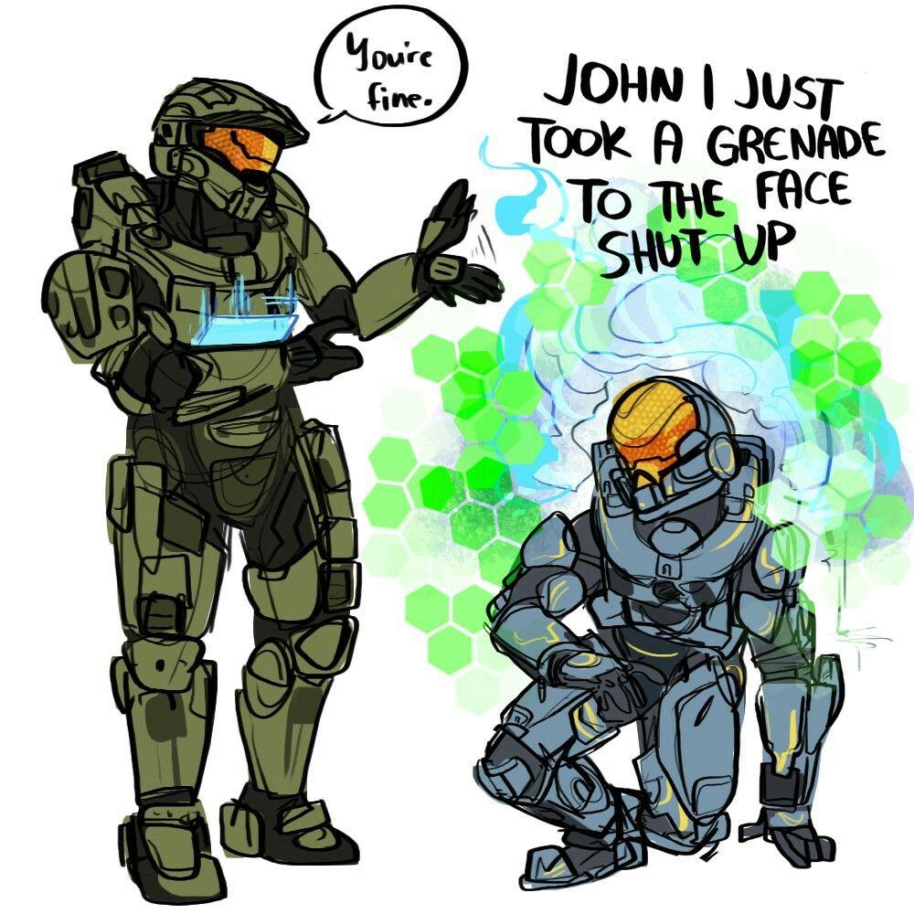 Halo Master Chief Kelly Eagle And The Rabbit Halo Funny