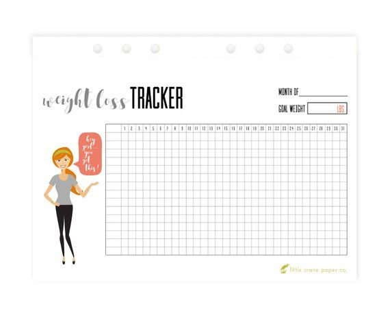 image about Bullet Journal Weight Loss Tracker Printable identified as Pinterest Пинтерест