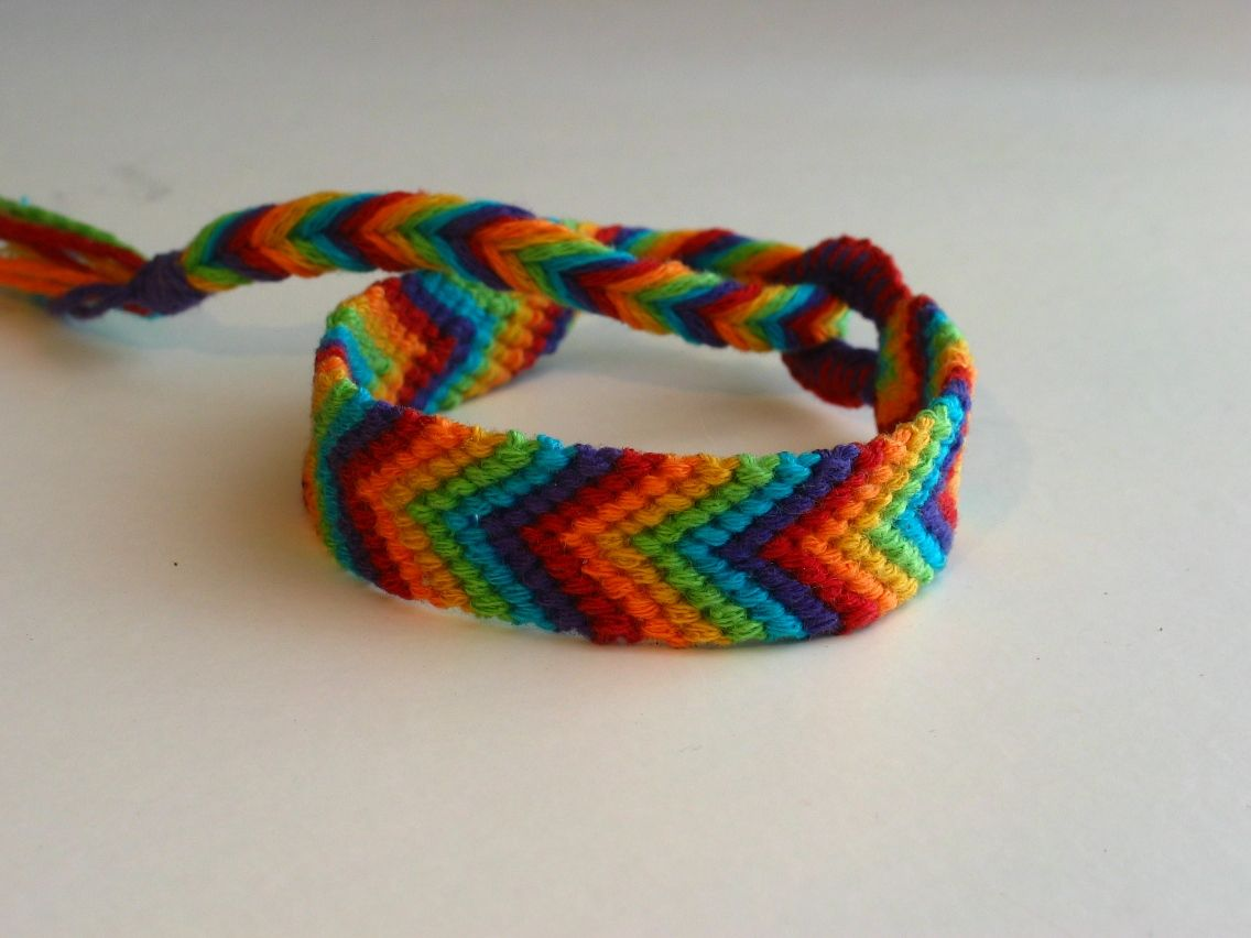 Chevron bracelet - Want To Make Bracelets Using String 25 Ideas Here
