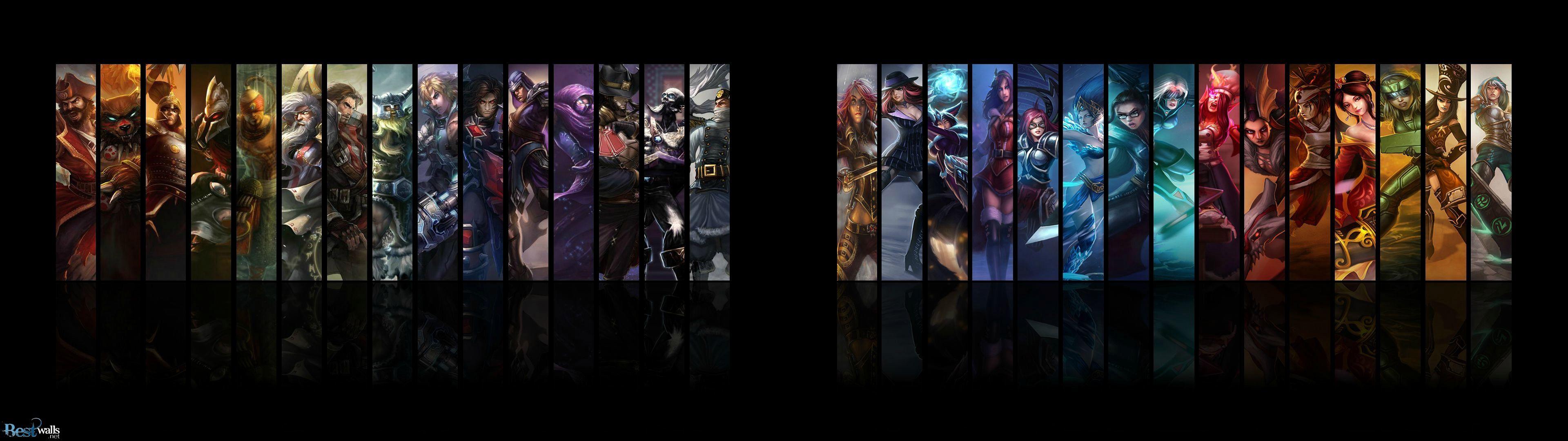 League Of Legends 3840 1080 Pixel Dual Monitor Wallpaper Dual
