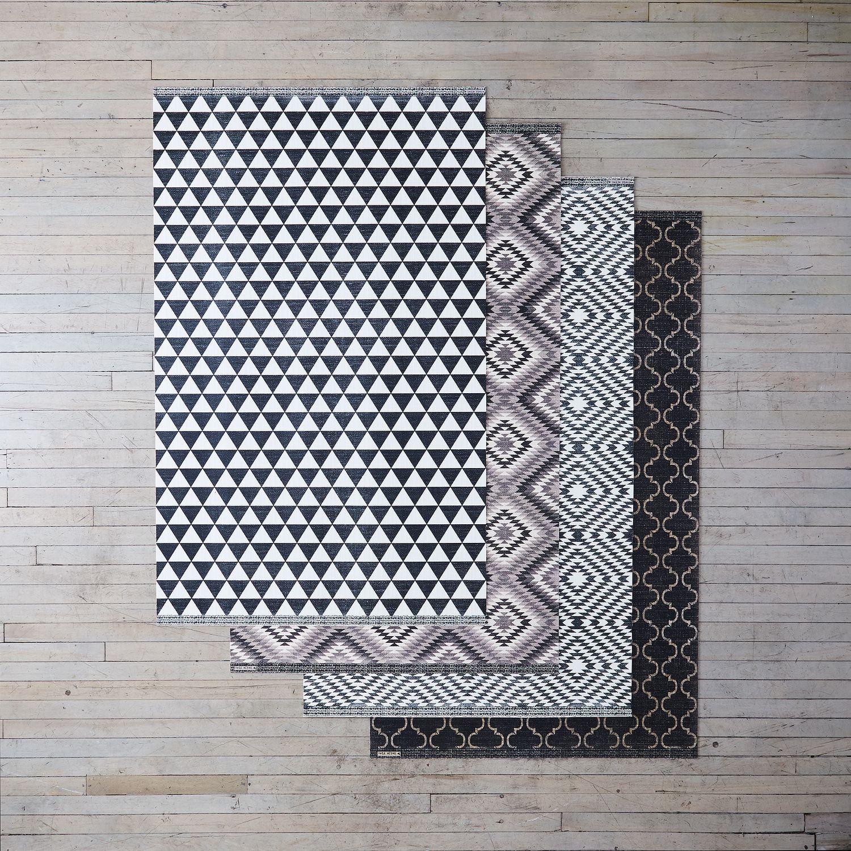 Geometric Flat Woven Vinyl Mats Vinyl Rug Kitchen Vinyl