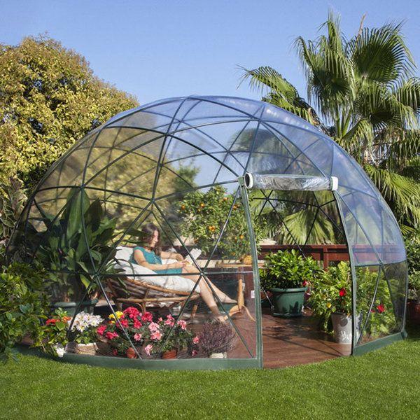 Jardin d hiver auvent d t serre g od sique garden igloo lapadd objets de lutte contre - Igloo de jardin ...