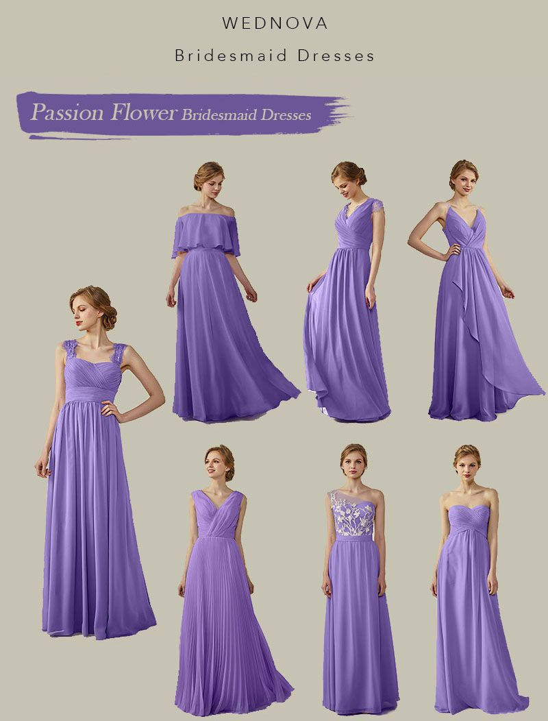 Passion flower bridesmaid dresses with straps a line long dresses