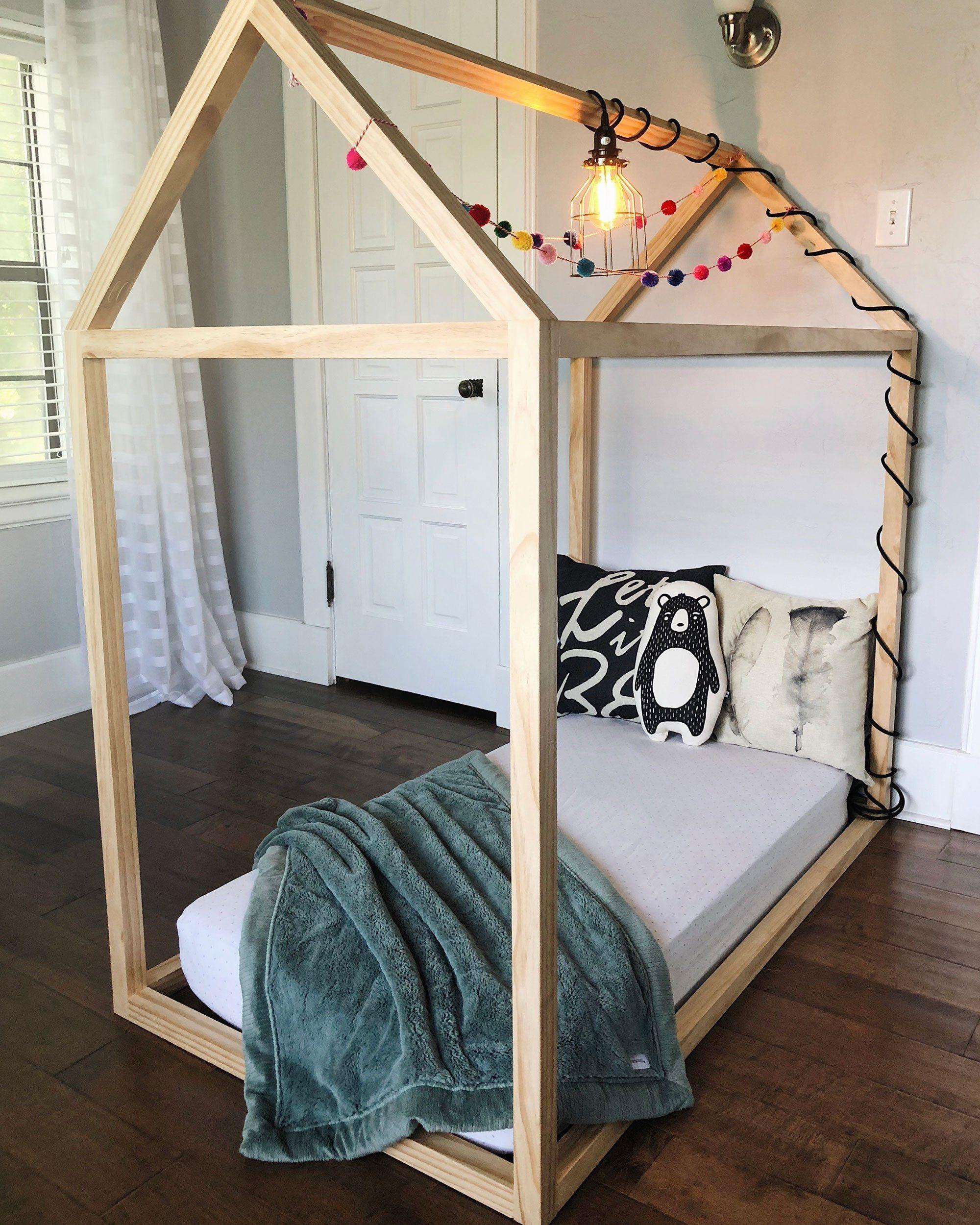 Diy Toddler House Bed Furniturebuilding Yatak Cadir