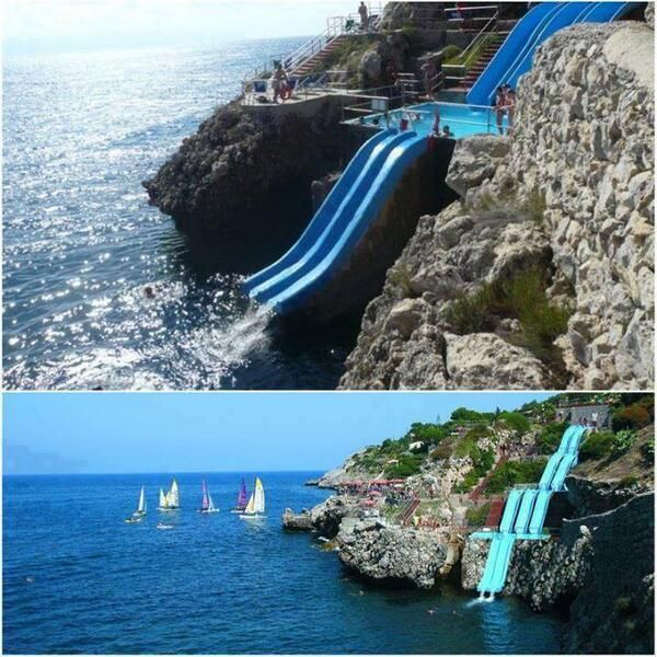 The World S Coolest Water Slide Sicily Italy