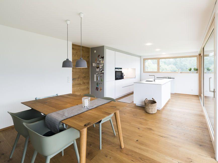 Einfamilienhaus# Röns# modern Holzbau#moderne Architektur# Flachdach - inneneinrichtung