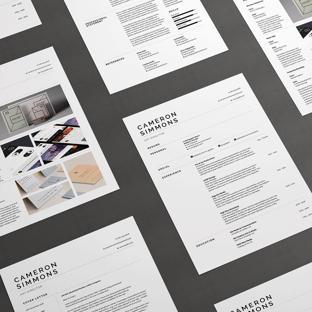 Resume / CV / Cover letter / Portfolio / Template / Word / Photoshop ...