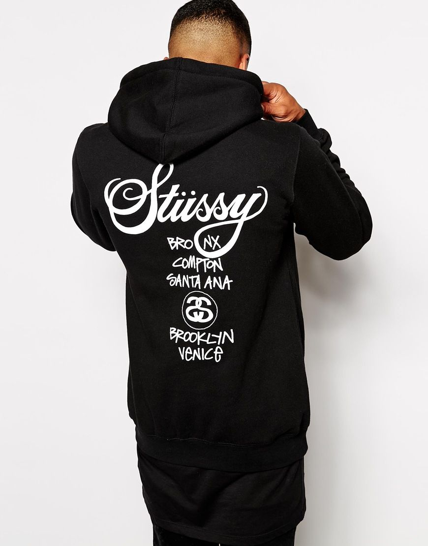 Shop Stussy World Tour Hoodie With Back Print at ASOS.