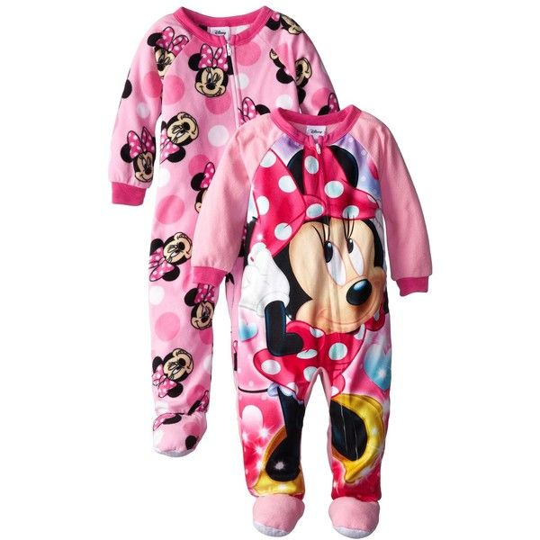 Disney Little Girls Mouse 2 Pack Dots Footed Blanket Sleepers 10 Liked On Polyvore Featuring Baby Girls Pajamas Minnie Mouse Girl Little Girls