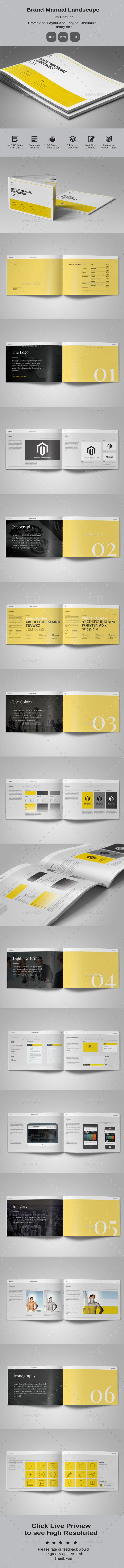 Brand Manual Template Indesign Indd Download Here Http