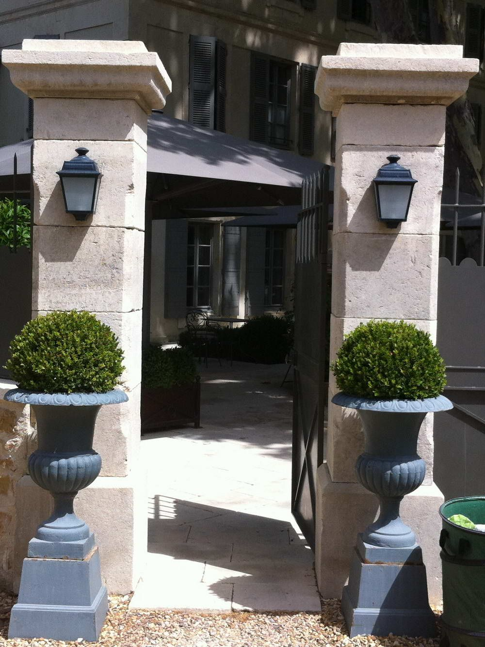 French Limestone Columns and Gates French Oak Flooring