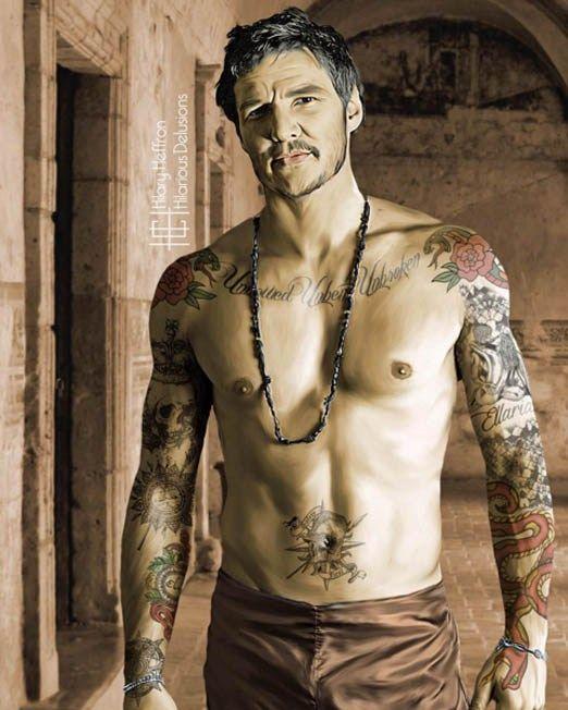 Game Of Thrones Inked Magazine Pedro Pascal Shirtless Pedro